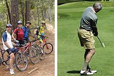 Bicicleta y golf en Dénia